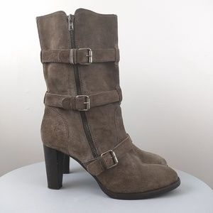 J. Crew Mid Calf Leather Boots size 9